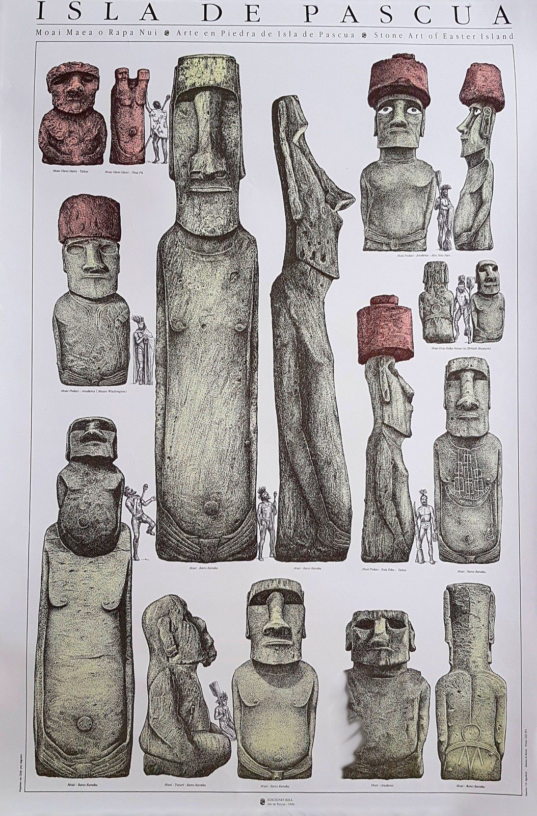 Affiche KIEA moai Rapa Nui