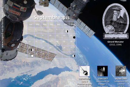 Le calendrier spatial et astronomique pour septembre 2015 : Lune, Mars, Jupiter, Saturne et au-delà…