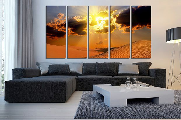 Canvas wall art in living room