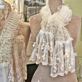 The Polka Dot Closet: Making Shabby Scarves From Vintage Table Runners And Lace