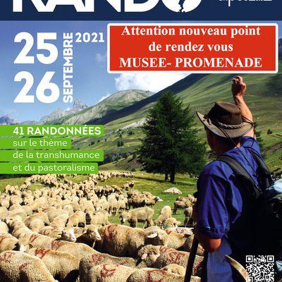 FETE de la RANDONNEE - Digne-les-Bains - 25 et 26 Septembre 2021 -