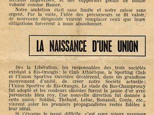 Lettre d'un ancien, Maurice Simon ; Programme de l'USRO lors du passage de la flamme olympique en 1991