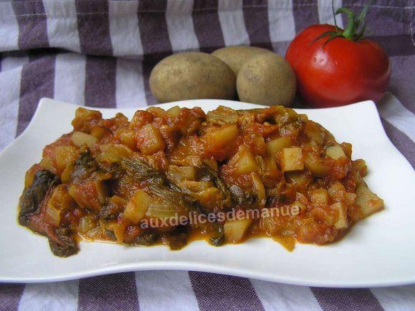 pommes de terre et salade au coulis de tomates - LIGHT -