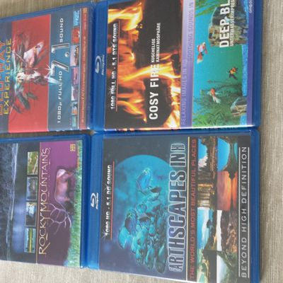 Blu ray d ambiance ( paysage son etc ) 15 € les 4