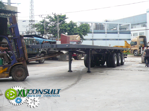 "Export China, manufacturing, quality control , semi trailers flatbeb 40"" 3 axles , transport and export service . :info@xvconsult.com"