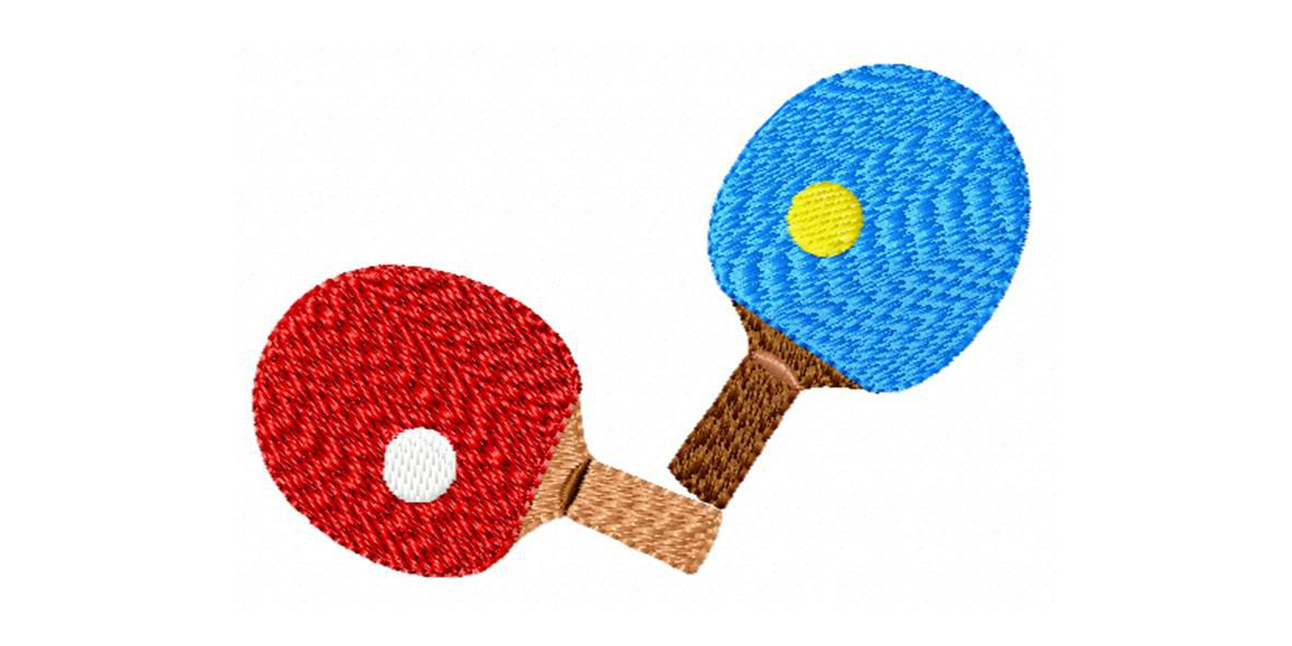 BRODERIE RAQUETTES PING PONG