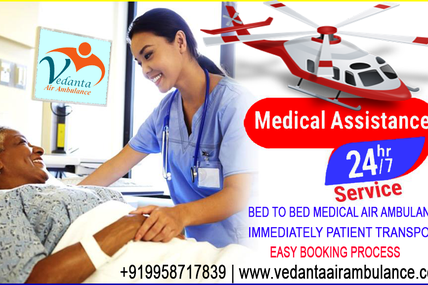 Patient Can Get Best Air Ambulance Services in Mumbai and Patna by Vedanta
