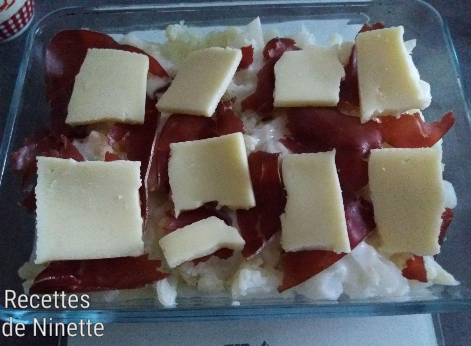 Gratin de chou-fleur au fromage à raclette et grison. Recette WW. Recettes allégées. Recettes facile
