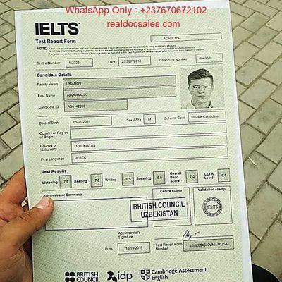 (WhatsApp: +237 670672102) Buy IELTS certificate online, Genuine IELTS Certificate, Buy original GOETHE Certificate a1,a2,b1, b2, c1, c2 without exam,  Buy verified original genuine TESTDAF level 3,4,5 certificate online without exam in Dortmund,  Buy original TELC certificate A1-A2-B1-B2-C1-C2 without exam in Germany, India ,UAE, Buy ielts certificate online in UK, registered Ielts Certificates