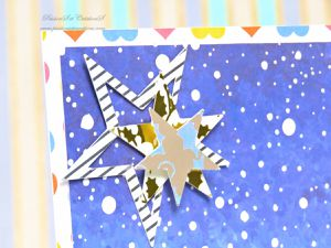 Carte - Voeux - 2019 - Strass - Stickers - Neige - Bouteille - Champagne - Feu d'artifice