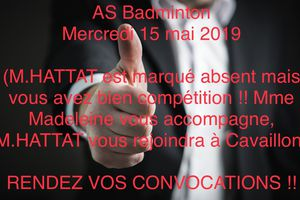 AS Badminton - Triplettes au MIN à Cavaillon