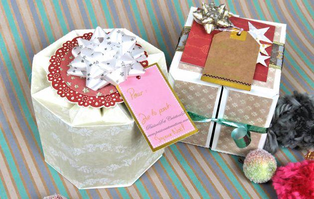{Scan N Cut} Réaliser : 2 Boites cadeaux...