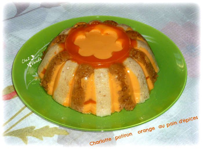 recette-ww-charlotte potiron orange au pain d'epices