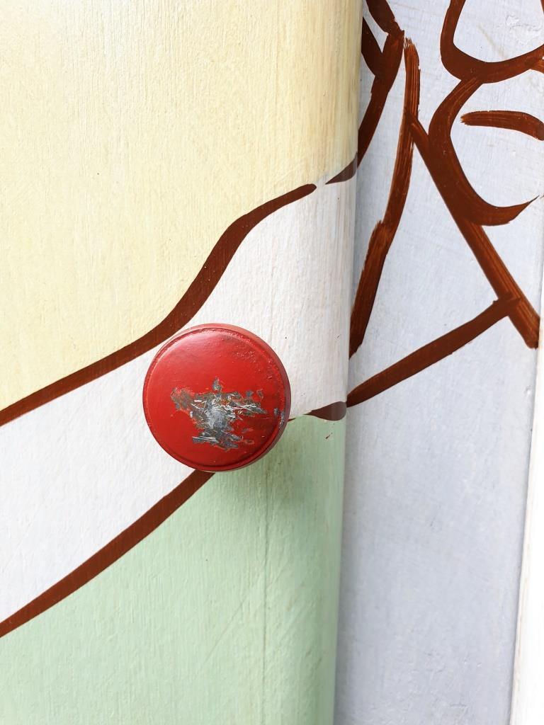 BUFFET DEAUVILLE RETRO POP ART peint par Laurence DELMOTTE BERREBY - 310 euros