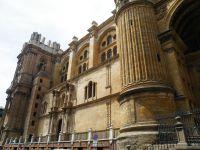 La cathédrale de Malaga et son petit message d'accueil que j'aime beaucoup!