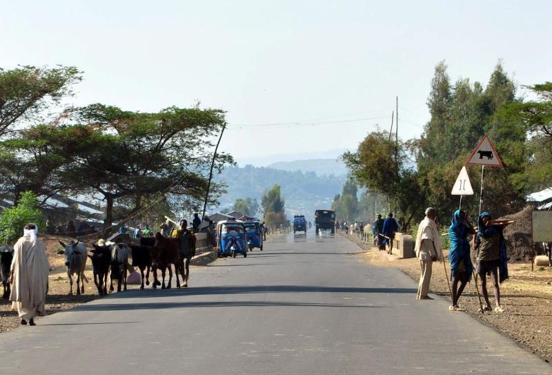 Ethiopie, route de Gonder à Bahir Dar et lac Tana