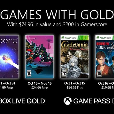 Games with Gold - Octobre 2021