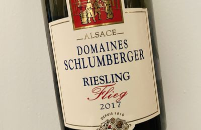 Alsace riesling Flieg 2017 Domaines Schlumberger