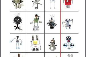 Création de robots: photo de groupe