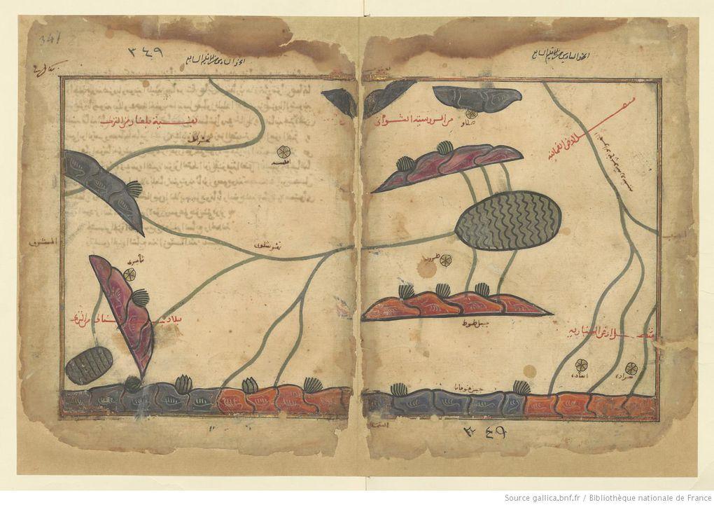 Muḥammad ibn Muḥammad al-Idrīsī. Nuzhat al-muštāq fī iḫtirāq al-āfāq (Carte géographique)