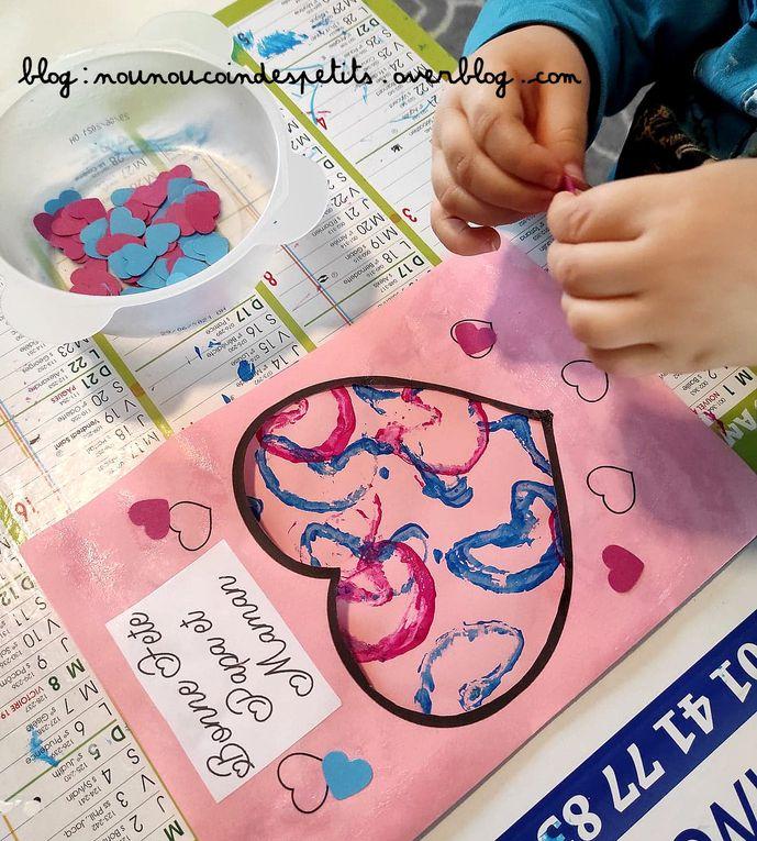 .. Carte , emballage cadeau et étiquette Saint Valentin , fête Maman , Mamie , Papa , Papi ou Papy .