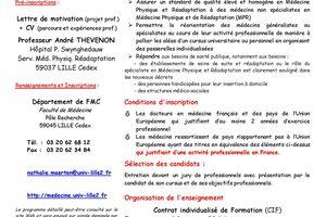 DU - Médecine de Rééducation 2011/2012