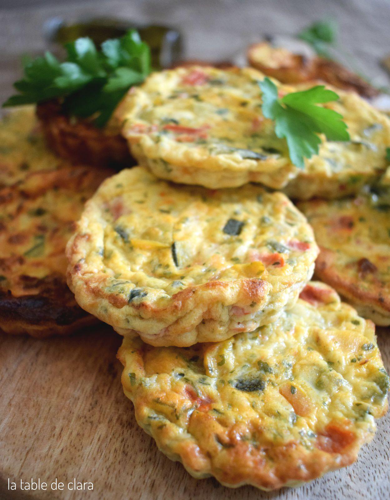 Tartelettes sans pâte aux petits légumes