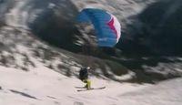 Le speed-riding, nouvelle discipline entre le ski et le parapente
