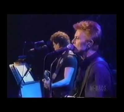 David Bowie 50th birthday with Lou Reed
