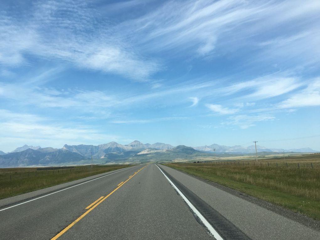 De Calgary à la frontière américaine - 27 / 31 août 2016