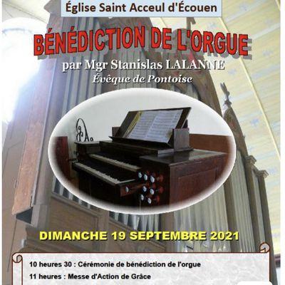 Dimanche 19 septembre : bénédiction de l'orgue d'Ecouen par Monseigneur Lalanne
