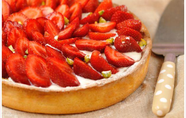 Tarte aux fraises & crème mascarponée