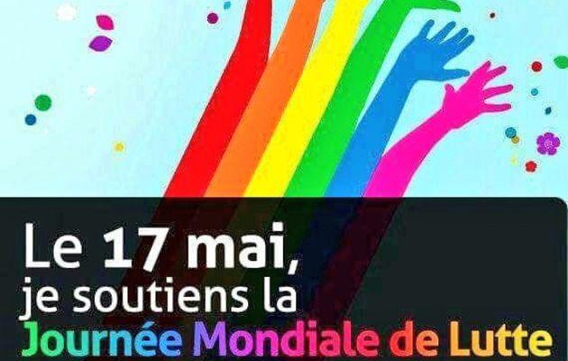 17 mai, Journée mondiale contre l'homophobie, la transphobie et la biphobie.