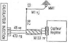 Branchement capteur PMH Motronic M1.3