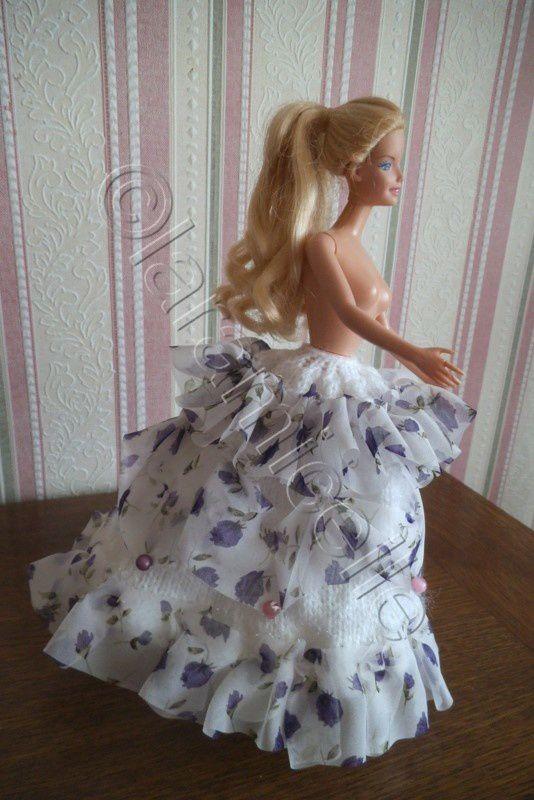 tuto gratuit barbie : jupe princesse Cindy