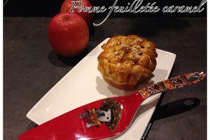 Pomme feuilletée caramel
