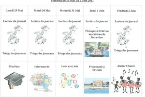 Planning semaine 22