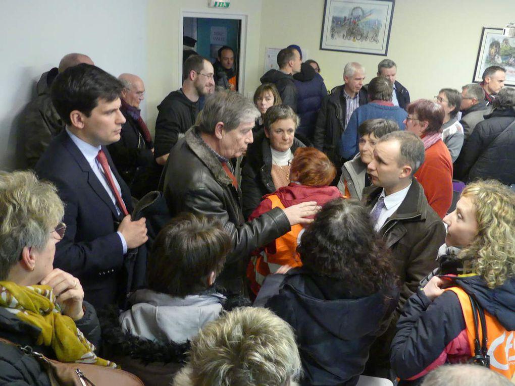 Une réunion houleuse avec dans l'assemblée Jean Hingray et Christophe Naegelen