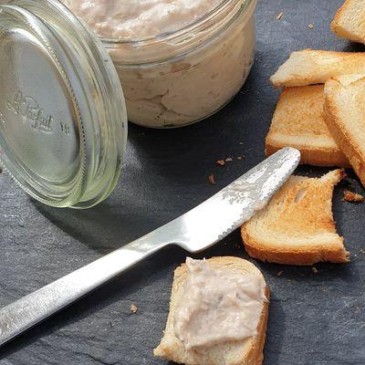 Rillettes de thon et anchois au fromage frais