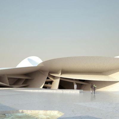 """Jean Nouvel,""""En forme de rose des sables"""": projet de musée de Doha"""