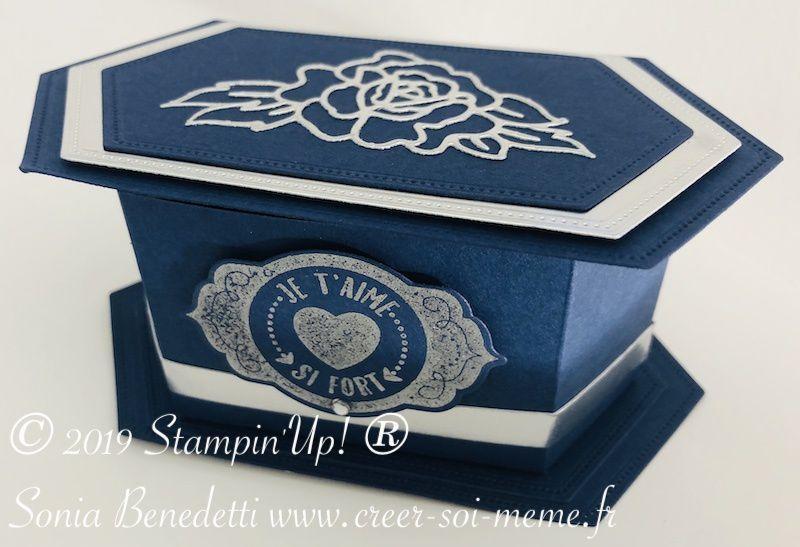 tutoriel pour boite à cadeau bijoux chocolat avec découpes stampin up