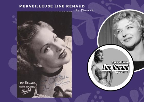 CARTE POSTALE: Line Renaud Vedette des disques Pathé