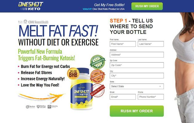 One Shot Keto : Fast Fat Burner Pills & Get Perfect Body Structure!