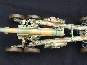 Canon 155mm Schneider C Mdl 17, DESKIT, maquette 1/35, armée française mai-juin 1940, modèle réduit 1/35, matériel militaire français seconde guerre mondiale mai-juin 1940