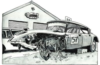 Wrecked Citroën DS