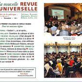 """La Nouvelle Revue Universelle publie les Actes du colloque """" Pour un nouveau régime """" - LAFAUTEAROUSSEAU"""