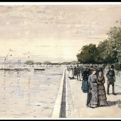 The beach of Dunkirk 1883