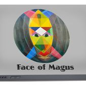 Face Of Magus Text Portable Battery Charger for Sale by Michael Bellon