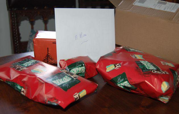 Paquet reçu chez Aline ;-)