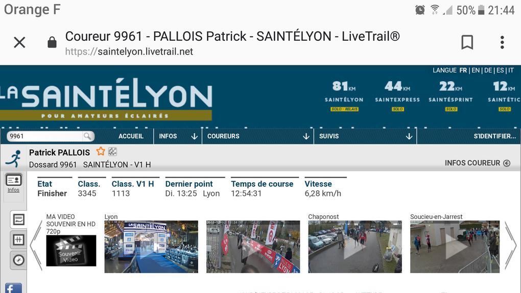 Saintélyon 81 km - 2018-12-02